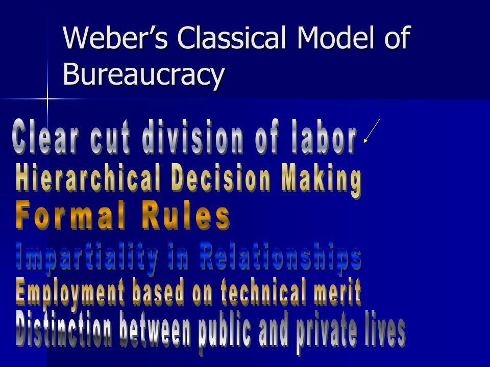 Weber's Classical Model of Bureaucracy