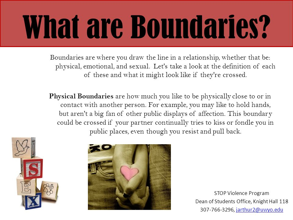examples of physical boundaries in relationships