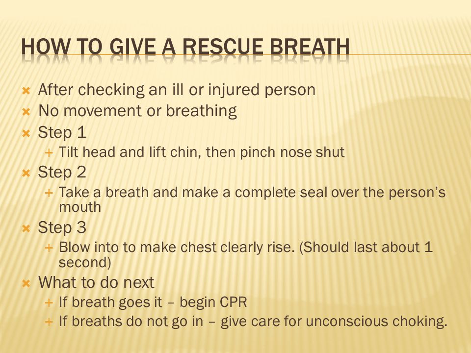 How to give a rescue breath