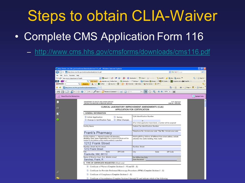 Clia Waiver What Is Clia Ppt Download
