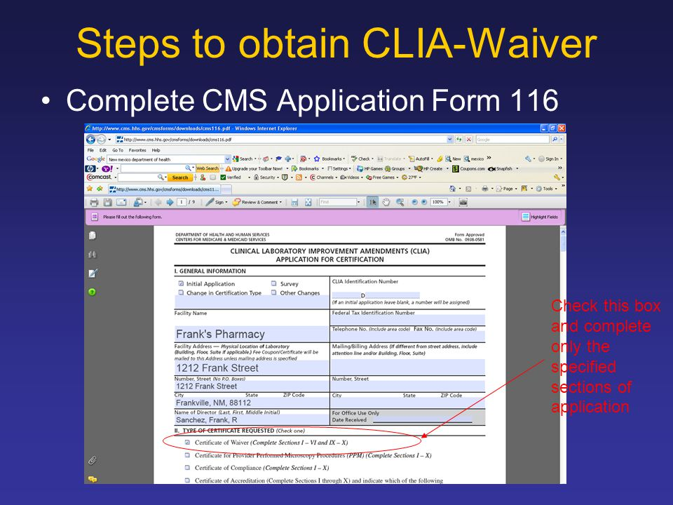 CLIA-Waiver What is CLIA? - ppt download