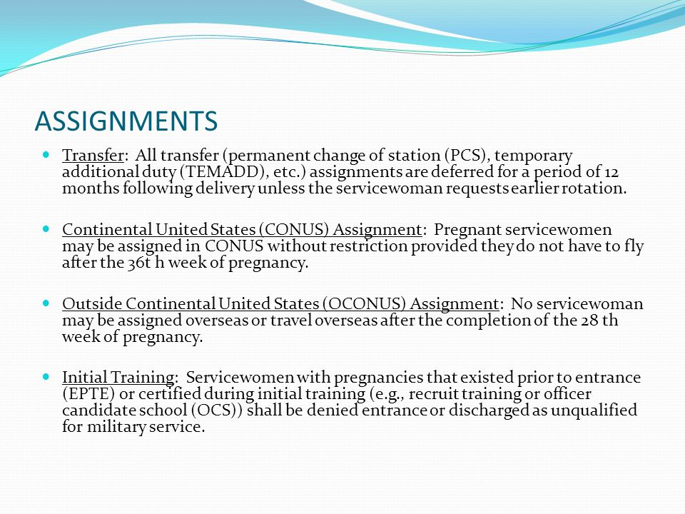 Navy Guidelines Concerning Pregnancy And Parenthood Ppt Video