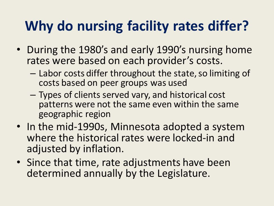 Overview of Nursing Facility and Elderly Waiver/Assisted