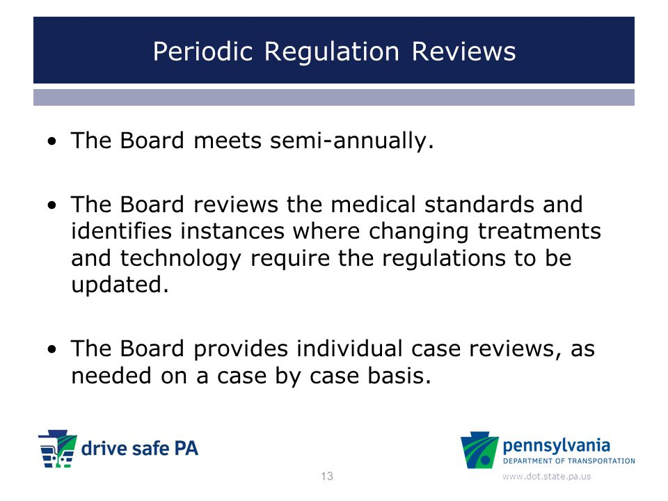 Periodic Regulation Reviews