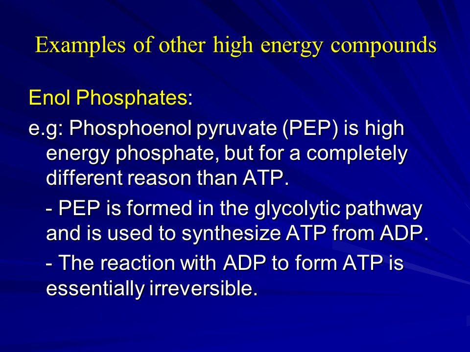 Examples of other high energy compounds