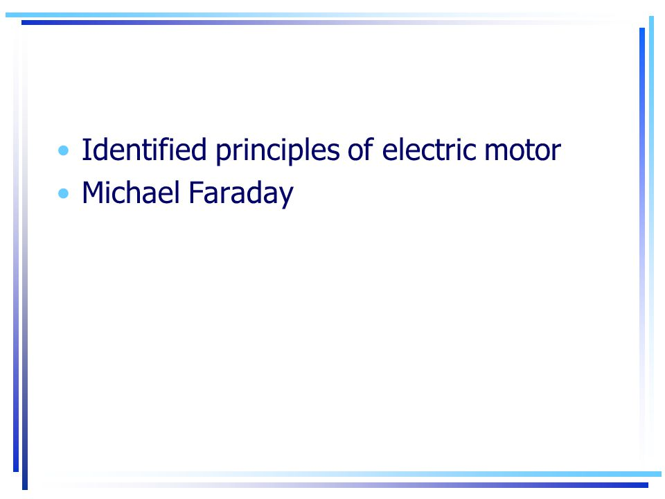 Identified principles of electric motor