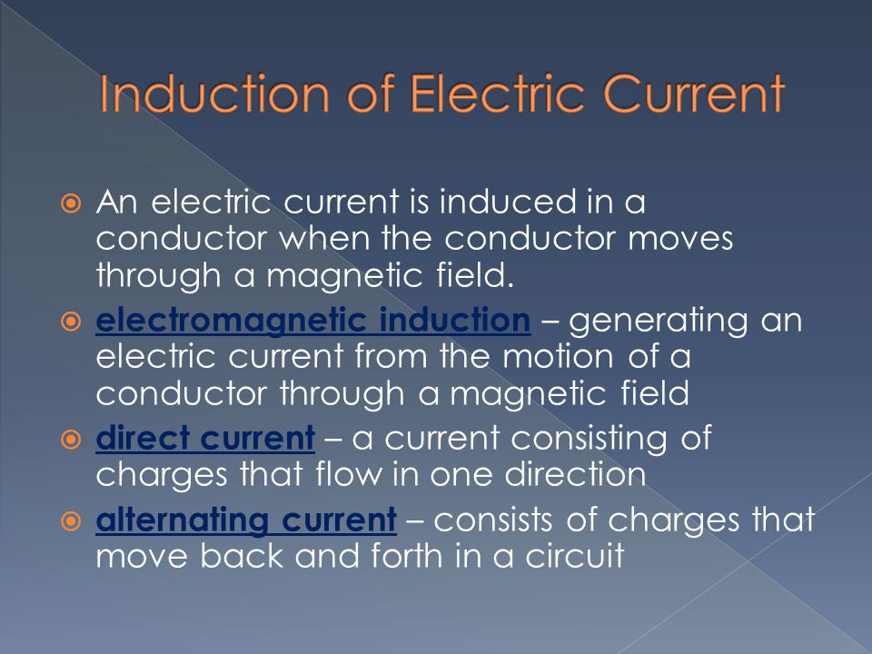 Induction of Electric Current