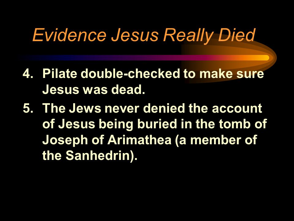 Evidence Jesus Really Died