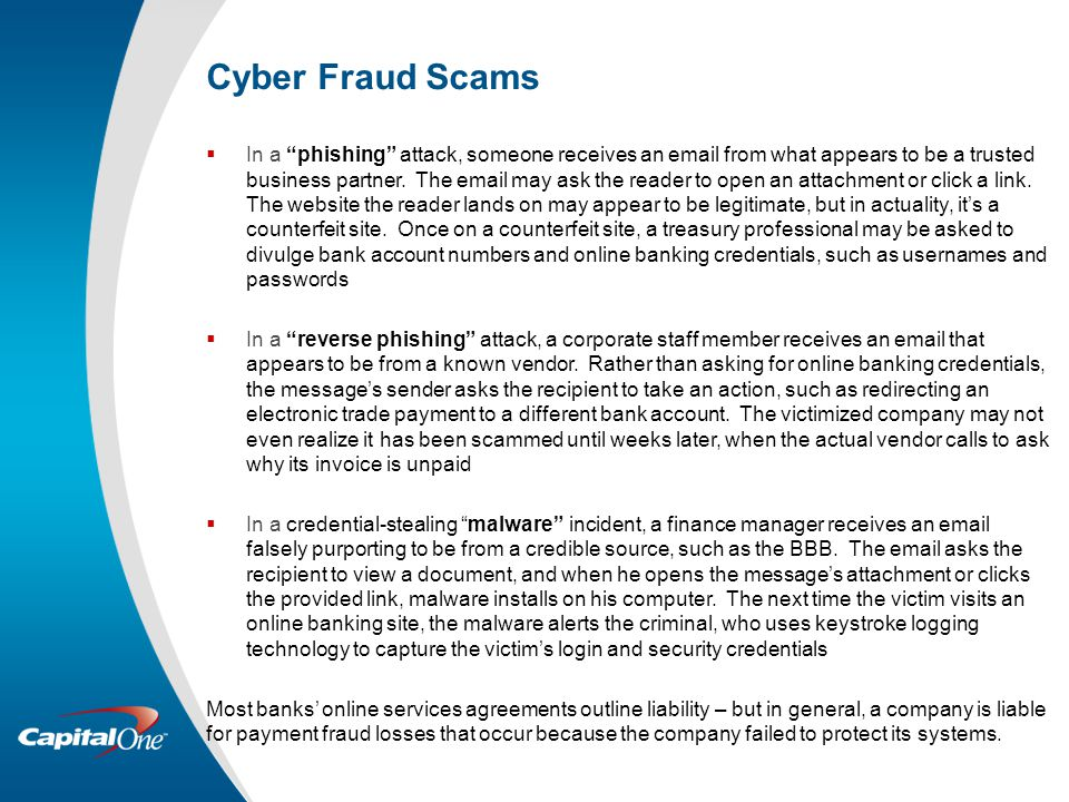 Cyber Fraud Scams