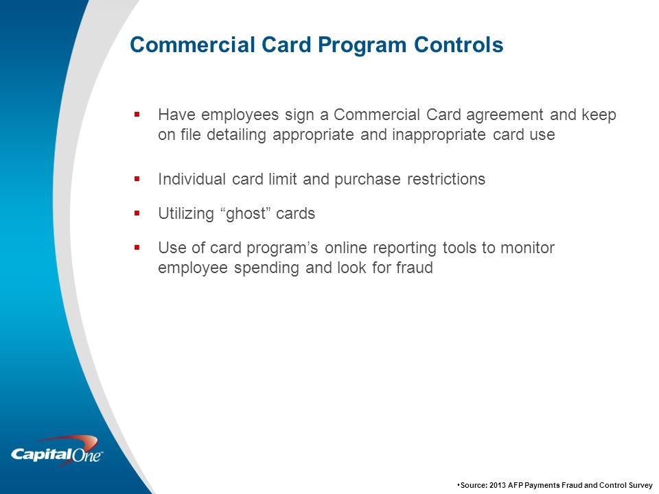 Commercial Card Program Controls