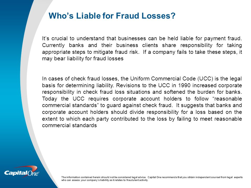 Who's Liable for Fraud Losses