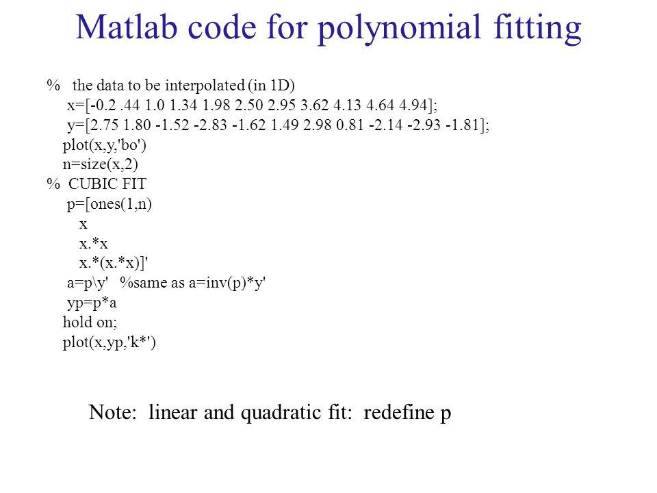 Interpolation Methods - ppt download