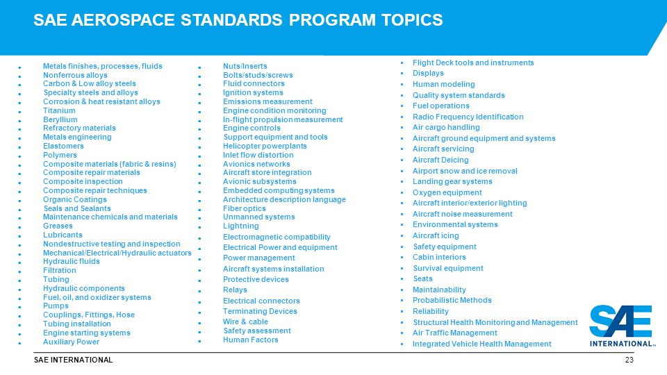 Sae International Aerospace Standards Ppt Video Online