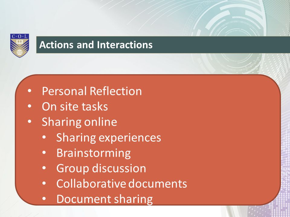 Collaborative documents Document sharing