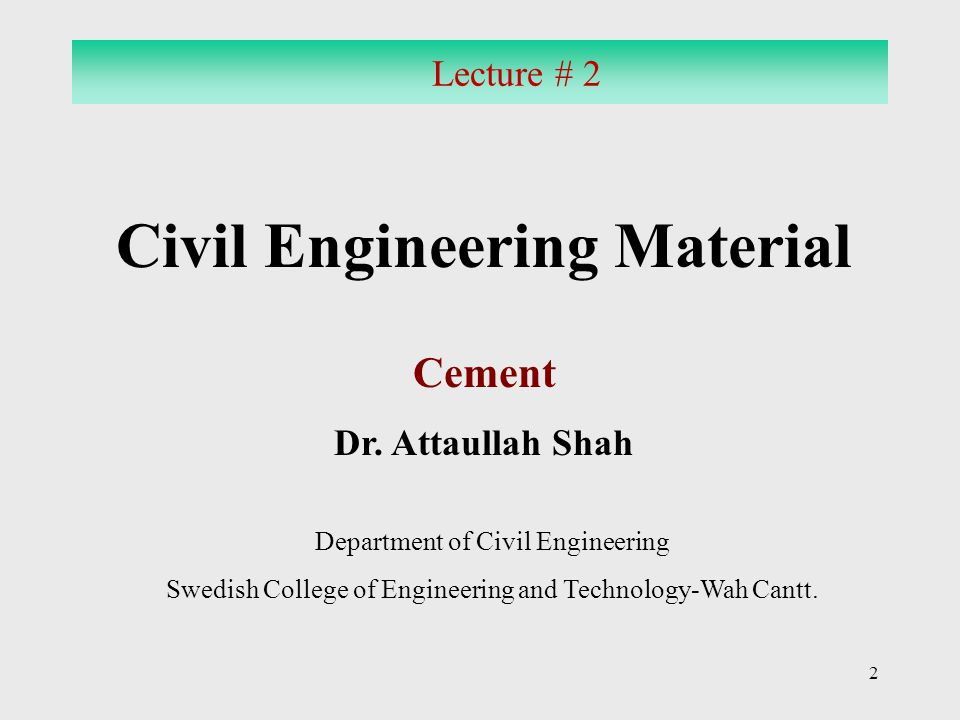 Civil Engineering Material