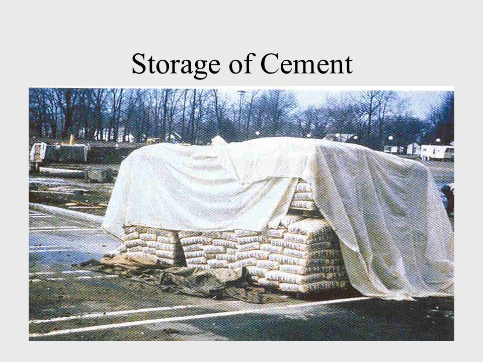Storage of Cement