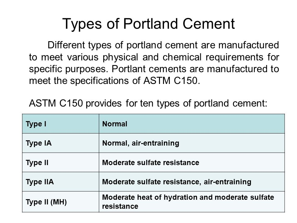 chemical properties of cement pdf
