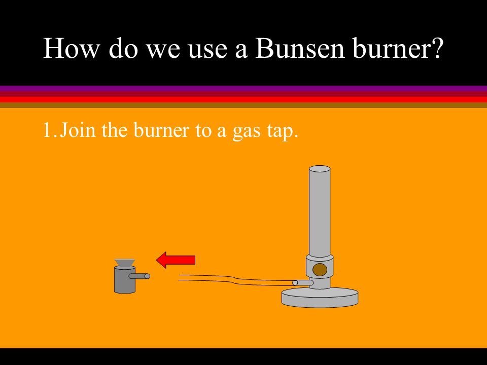 how to properly light a bunsen burner