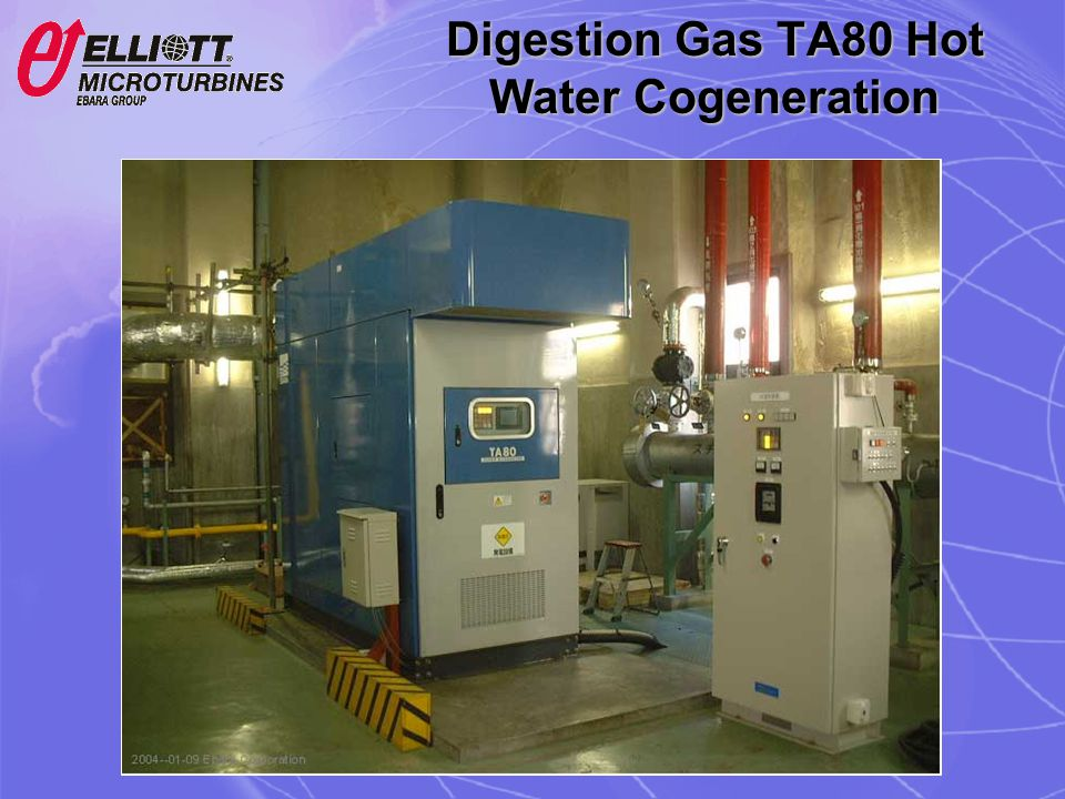 Digestion Gas TA80 Hot Water Cogeneration