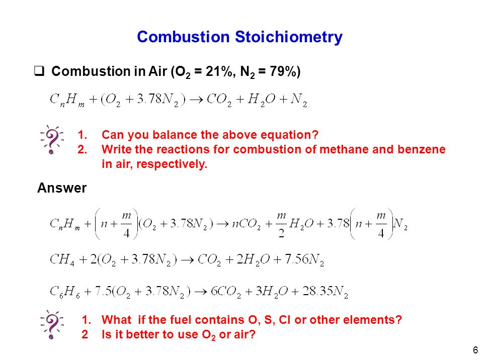 how to write a combustion equation