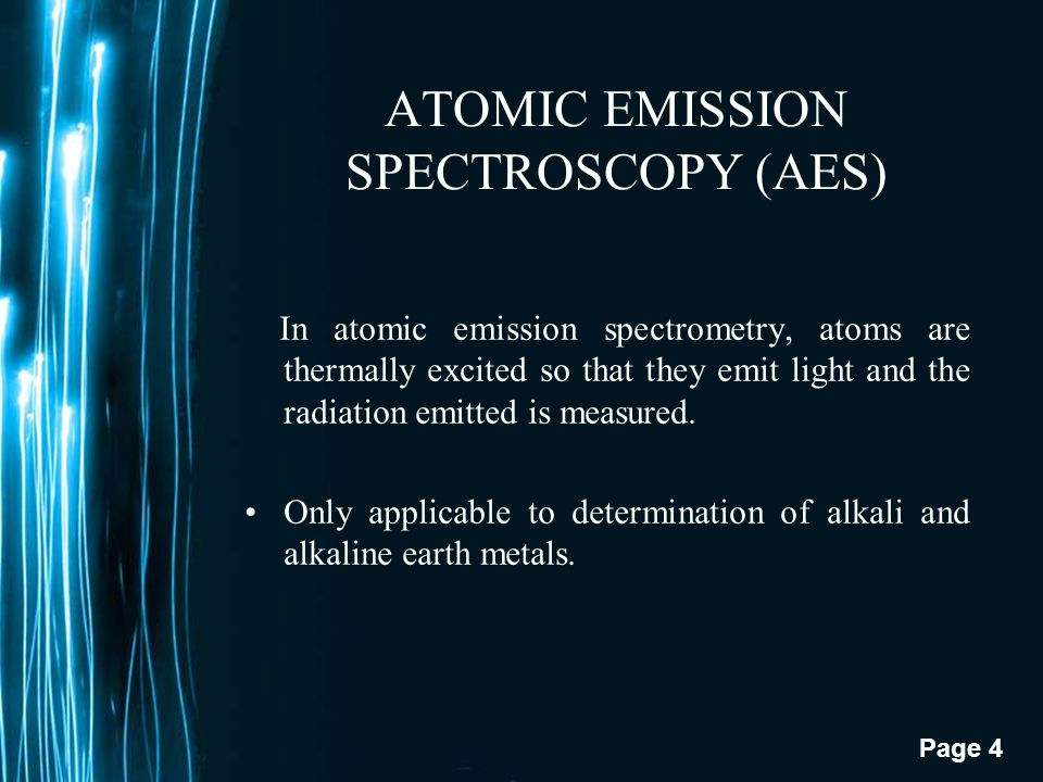 ATOMIC EMISSION SPECTROSCOPY (AES)