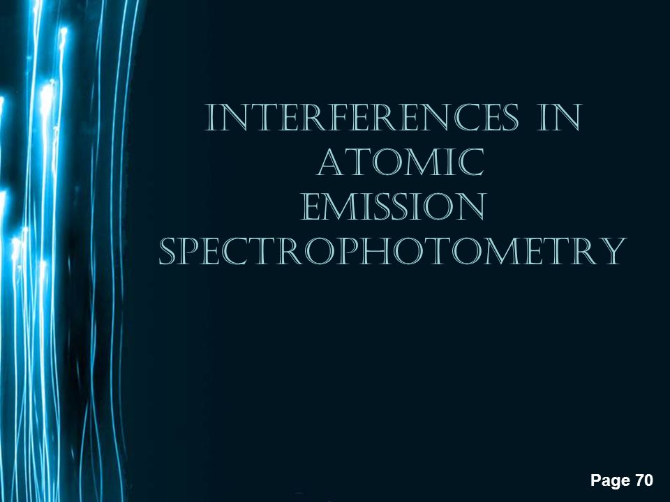 INTERFERENCES IN ATOMIC EMISSION SPECTROPHOTOMETRY