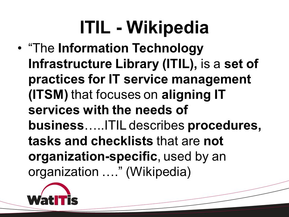 What Is Itil Fall 2012 Lisa Tomalty Ppt Video Online Download