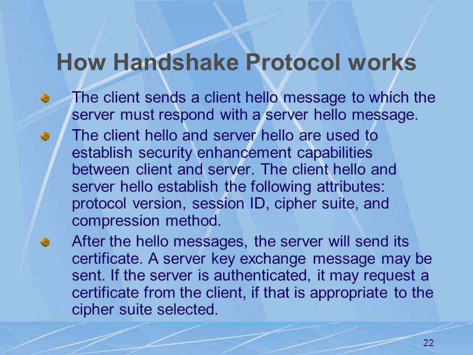 How Handshake Protocol works