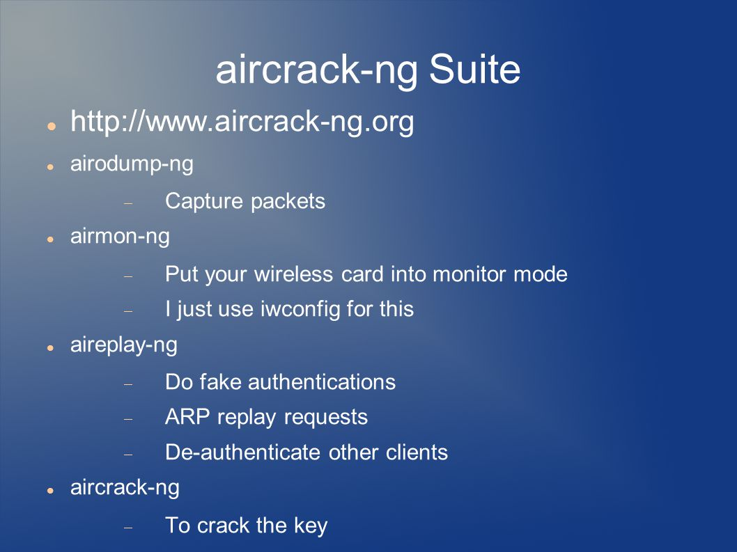 Wireless Cracking By: Christopher Zacky  - ppt download