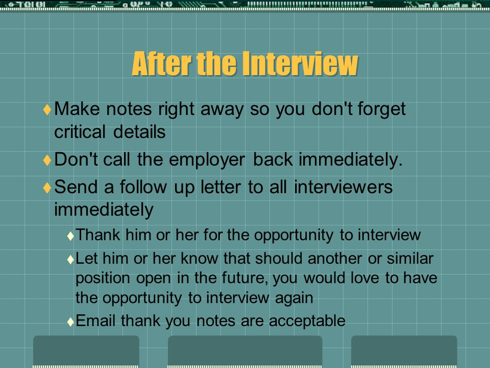 Before, During, & After The Job Interview - ppt download