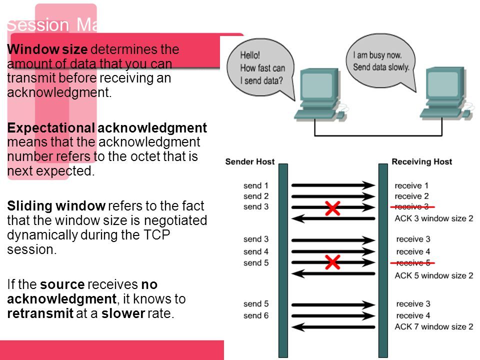 Session Maintanance - Flow Control and Windowing