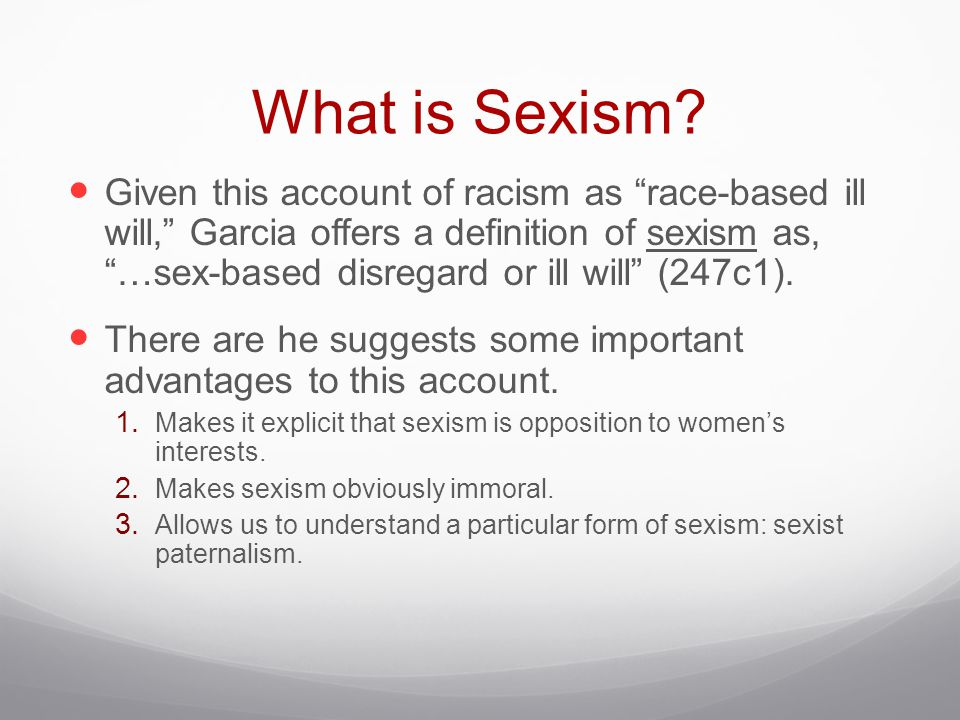 What is the meaning of sexism