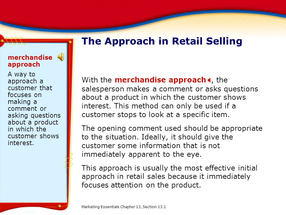 The Approach in Retail Selling