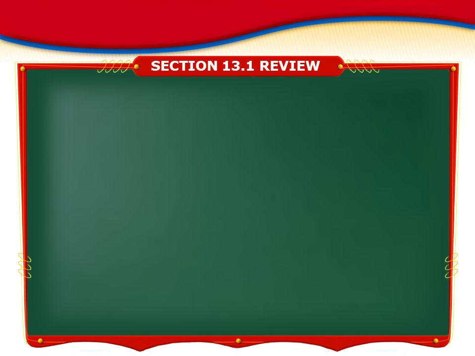 SECTION 13.1 REVIEW