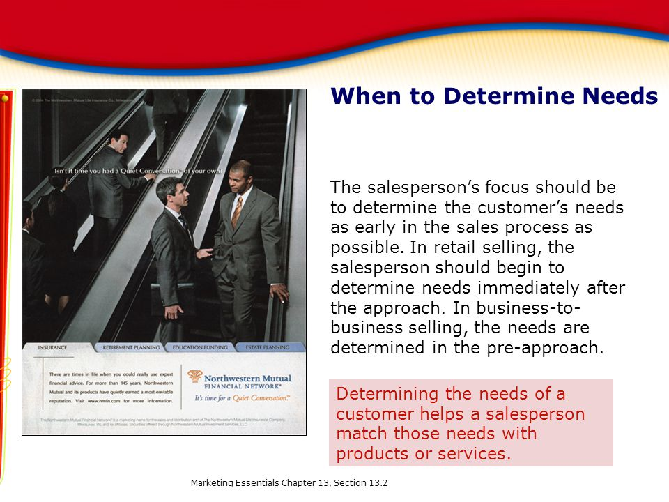 When to Determine Needs