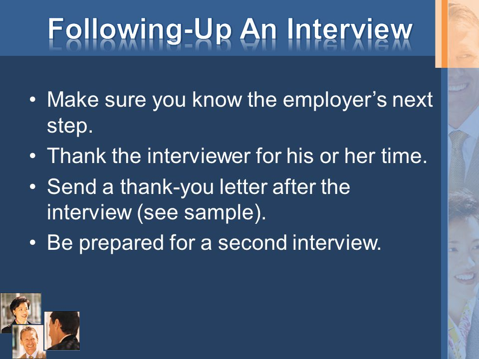 Following-Up An Interview