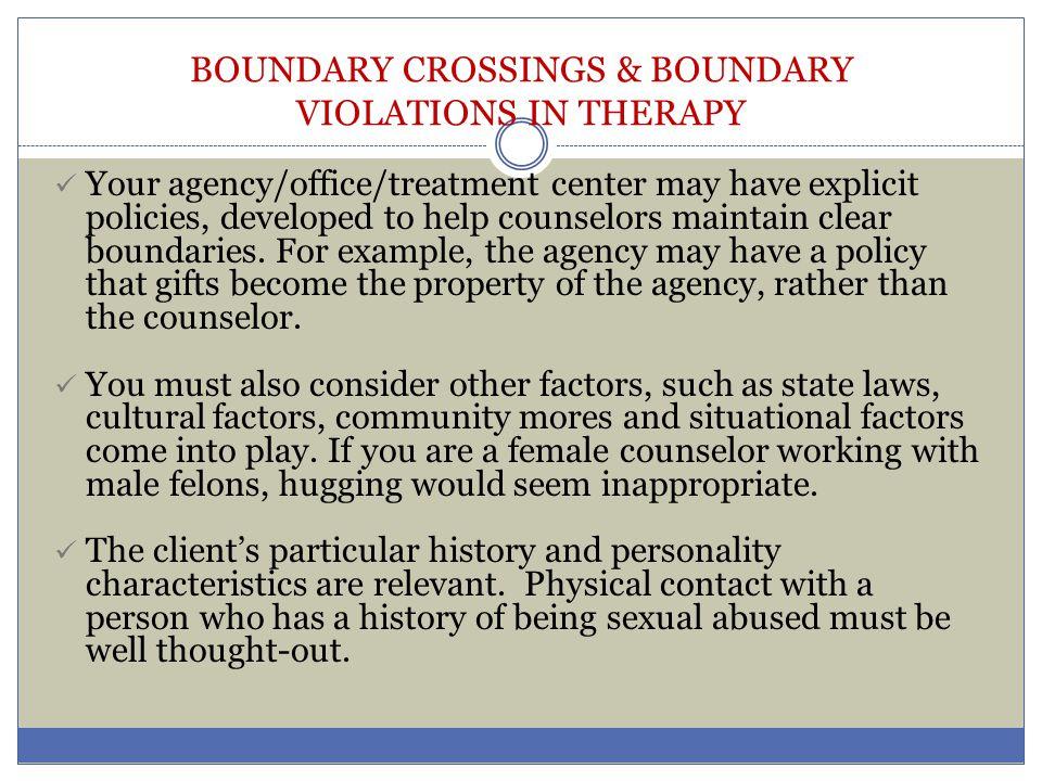 Boundary voilation in psychiatry.