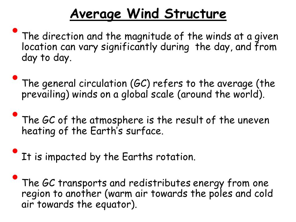 Average Wind Structure