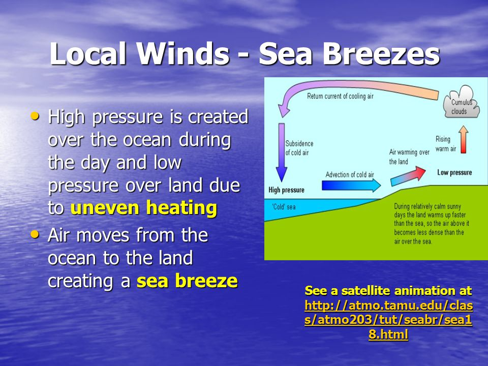 Local Winds - Sea Breezes