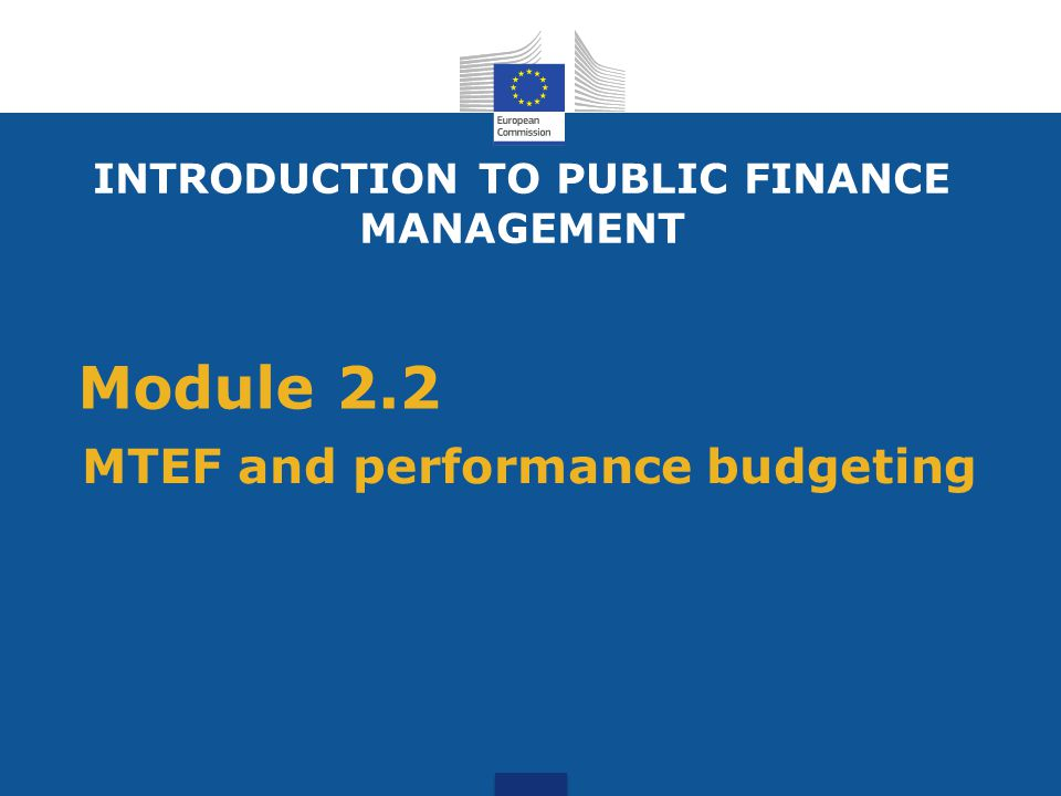 MTEF and performance budgeting