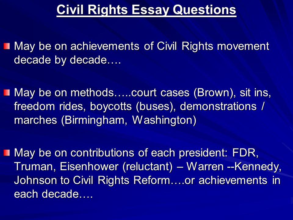 civil rights essay questions