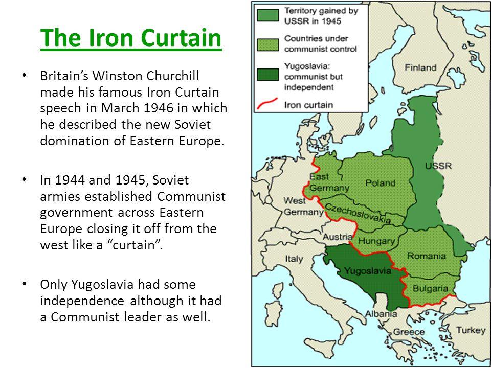Iron Curtain Mon April Ppt Video Online Download