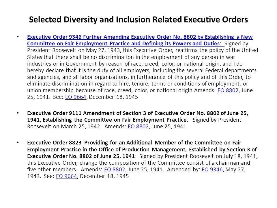 executive order 13163