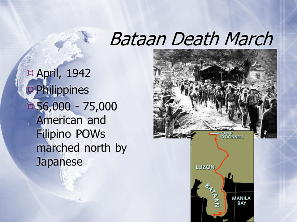 Bataan Death March April, 1942 Philippines