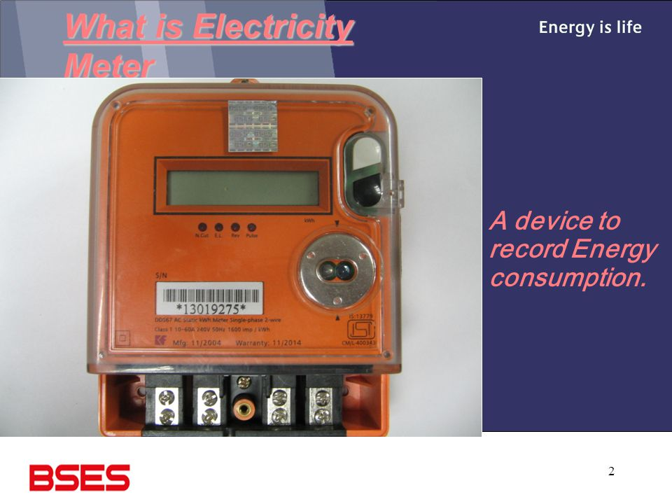 What is Electricity Meter