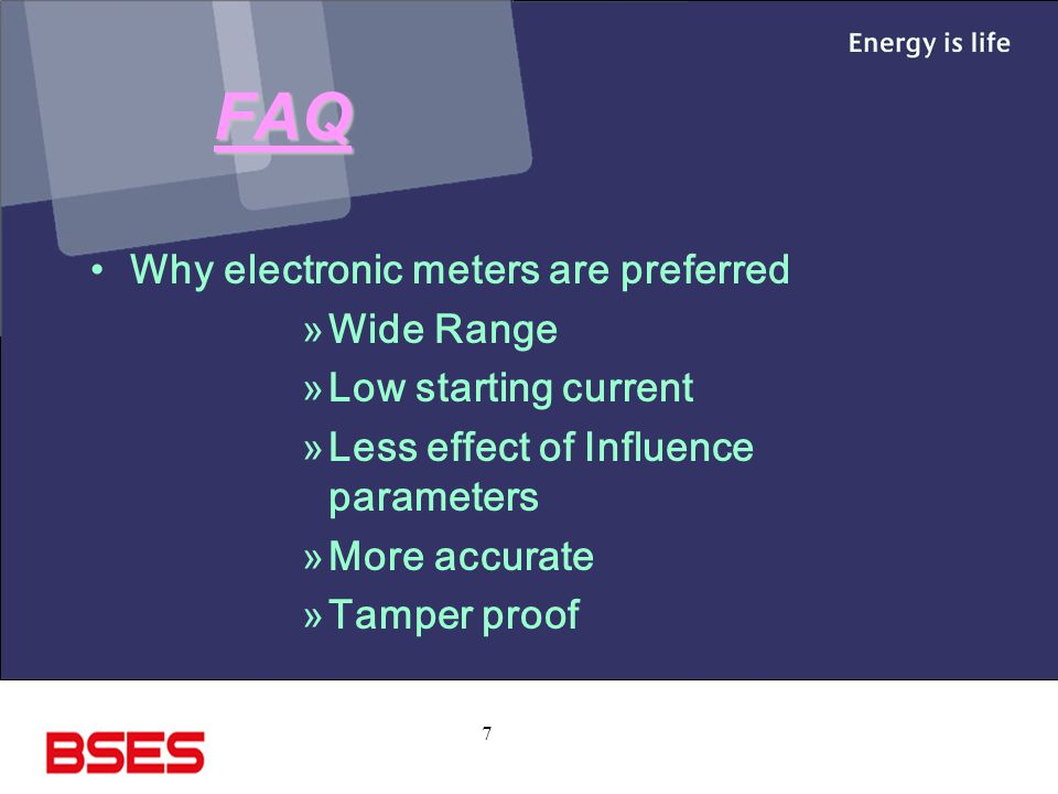 FAQ Why electronic meters are preferred Wide Range