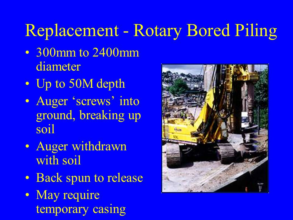 Replacement - Rotary Bored Piling