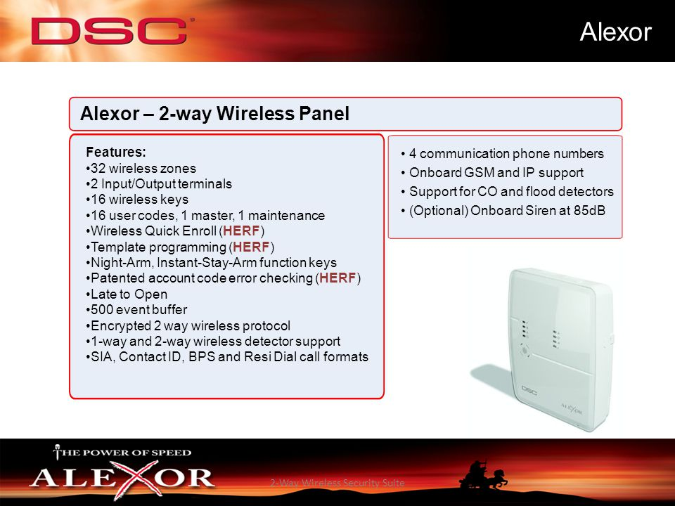 Alexor 2-way Wireless Security Suite Aitor Gauna – DSC