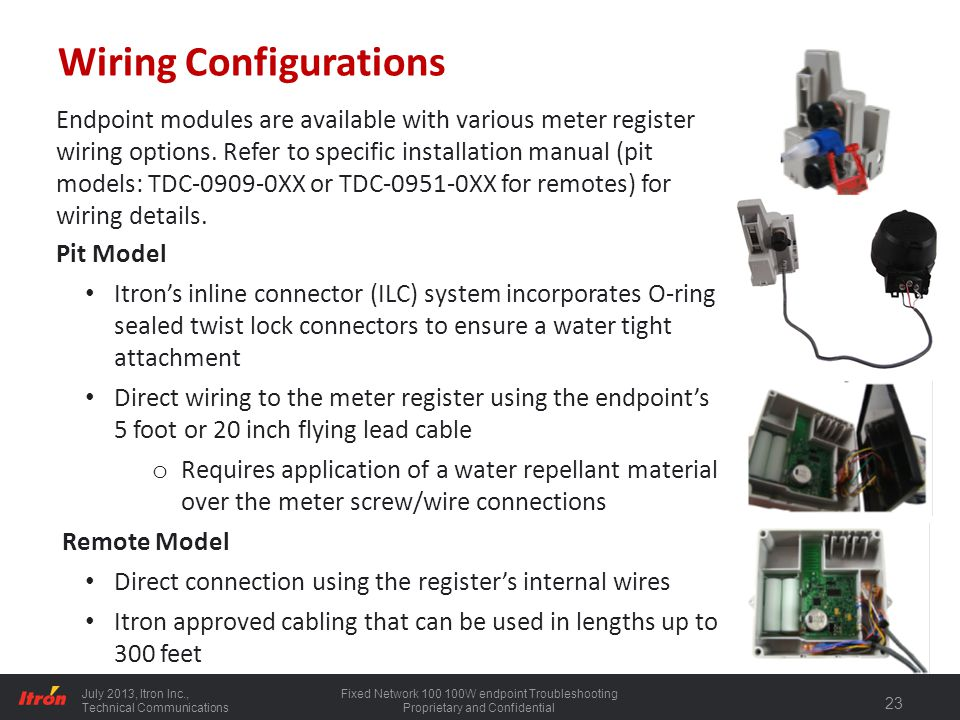 100 series water endpoint installation ppt download honeywell wiring diagram itron wiring diagram #19