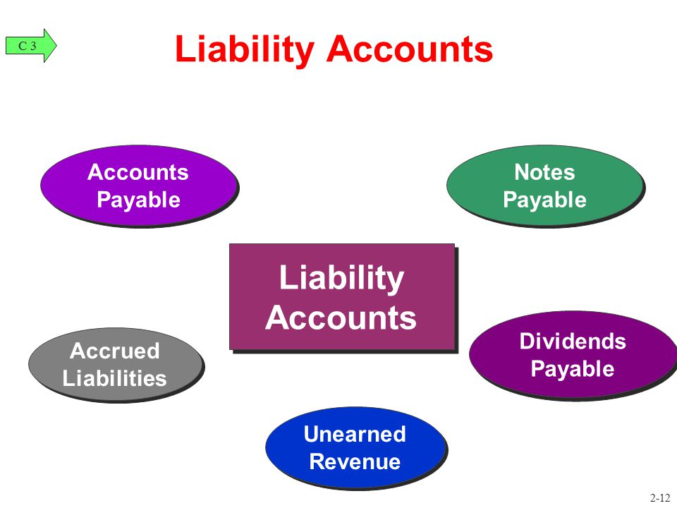 Liability Accounts Liability Accounts Accounts Payable Notes Payable